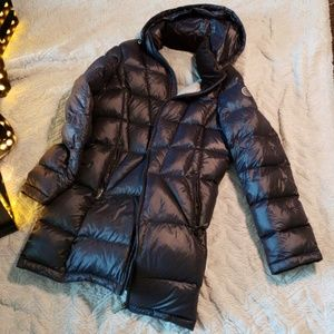 Calvin Klein Navy Puffer Long Coat